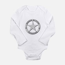 Single Action Shooter Long Sleeve Infant Bodysuit