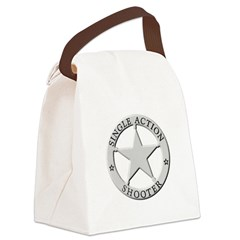 Single Action Shooter Canvas Lunch Bag