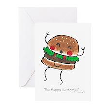 Happy Hamburger Greeting Cards (Pk of 10)
