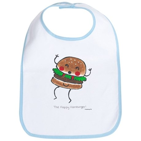 Happy Hamburger Bib