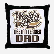Tibetan Terrier Dad Throw Pillow