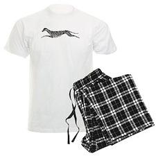 Leaping Scottish Deerhound Pajamas