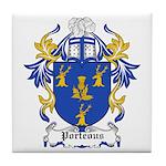 Porteous Coat of Arms Tile Coaster