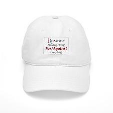 Romney: For/Against Everything Baseball Cap