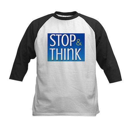STOP & THINK Kids Baseball Jersey