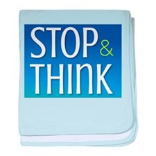 STOP & THINK baby blanket