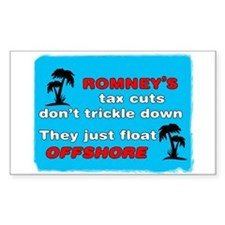 Romney's Tax Cuts Don't Trickle Down Decal