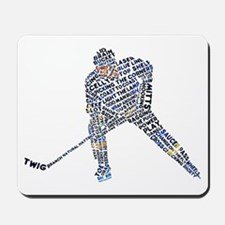 Hockey Player Typography Mousepad