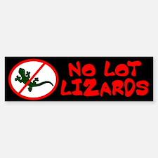 No Lot Lizards Bumper Bumper Bumper Sticker