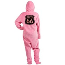 Retro Route 66 Footed Pajamas