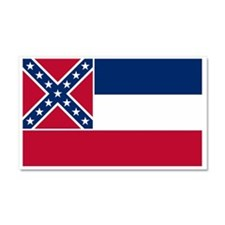 Mississippi flag Car Magnet 20 x 12