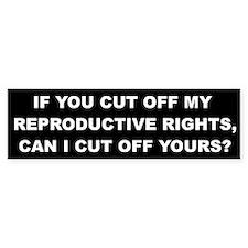 Reproductive Rights Bumper Sticker