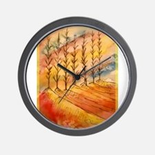 Trees! Colorful nature painting! Wall Clock