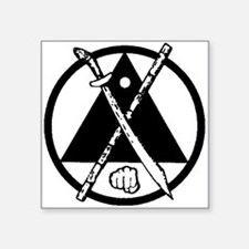 "Black Kenpo-Arnis.png Square Sticker 3"" x 3"""