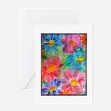 Flowers! Bright floral art! Greeting Card