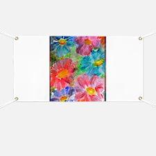 Flowers! Bright floral art! Banner