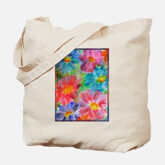 Flowers! Bright floral art! Tote Bag
