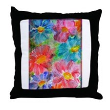 Flowers! Bright floral art! Throw Pillow