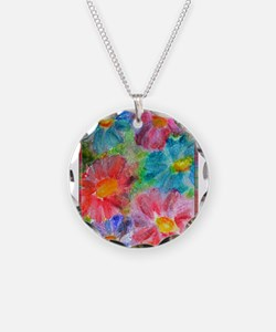 Flowers! Bright floral art! Necklace