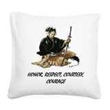 Samurai Square Canvas Pillows