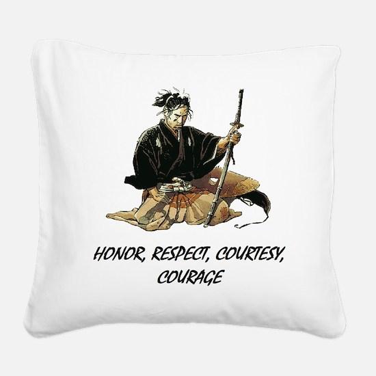 Samurai.PNG Square Canvas Pillow
