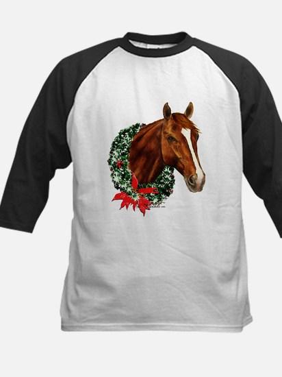 Horse and Wreath Kids Baseball Jersey