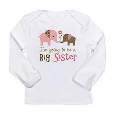 Big Sister to be - Mod Elephant Long Sleeve T-Shir