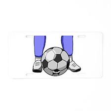Soccer Aluminum License Plate