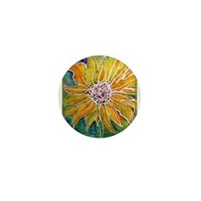 Sunflower! Bright, flower art! Mini Button (100 pa
