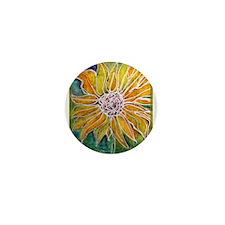 Sunflower! Bright, flower art! Mini Button