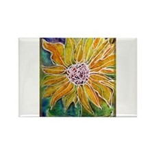 Sunflower! Bright, flower art! Rectangle Magnet