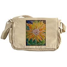 Sunflower! Bright, flower art! Messenger Bag