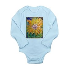 Sunflower! Bright, flower art! Long Sleeve Infant