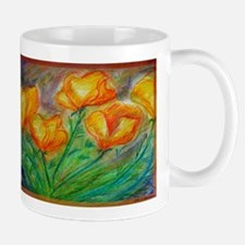 Golden Poppies! Colorful art! Mug