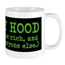 ROMNEY HOOD (He gives to the rich ...) Mug