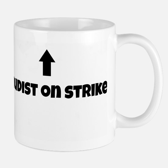 Nudist On Strike Mug