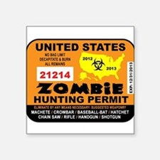 "ZombiePermit Square Sticker 3"" x 3"""