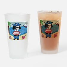 Whimsical Shih Tzu glass;dog pirate glass