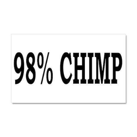 98% Chimp Car Magnet 20 x 12