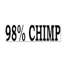 98% Chimp Car Magnet 10 x 3