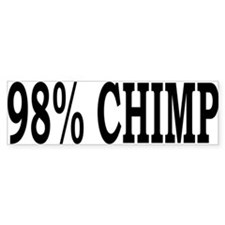 98% Chimp Bumper Sticker