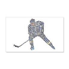 Hockey Player Typography Wall Decal