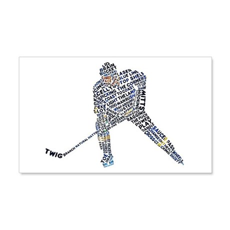 Hockey Player Typography 20x12 Wall Decal