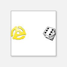 Adapt or Die (for dark background) Square Sticker