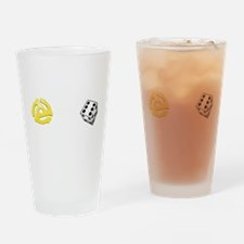 Adapt or Die (for dark background) Drinking Glass