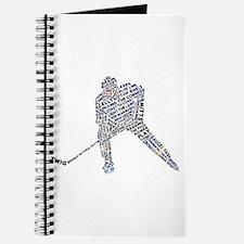 Hockey Player Typography Journal