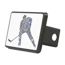 Hockey Player Typography Hitch Cover