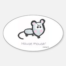 House Mouse Oval Decal