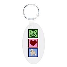 Peace Love Poodles Keychains