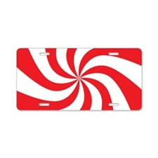 Peppermint Candy Aluminum License Plate